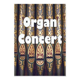 Invitación del concierto del órgano - tubos