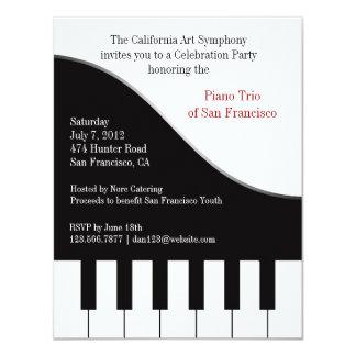 Invitación del concierto del piano invitación 10,8 x 13,9 cm