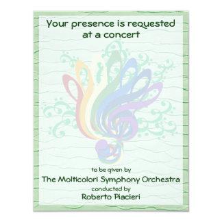 Invitación del concierto del ramo del Clef