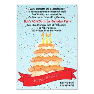 Invitación del confeti del cumpleaños