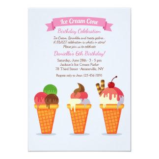 Invitación del cono de helado