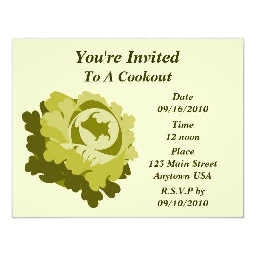 Invitación del Cookout de la lechuga