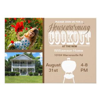 Invitación del Cookout del estreno de una casa de