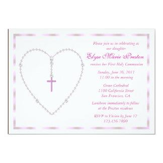 Invitación del corazón del rosario