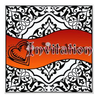 Invitación del cordón del hierro labrado (escoja invitación 13,3 cm x 13,3cm