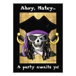 """""""Invitación del cráneo del pirata"""""""