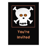 Invitación del cráneo y del fiesta de Halloween de