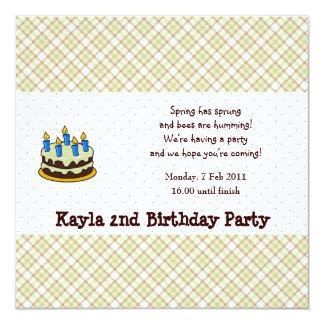 Invitación del cumpleaños