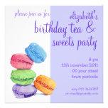 Invitación del cumpleaños de 5 Macarons