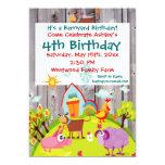Invitación del cumpleaños de Barnwood de los