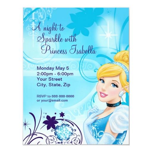 Invitación del cumpleaños de Cenicienta | Zazzle