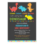 Invitación del cumpleaños de Dino, invitación del