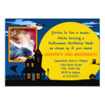 Invitación del cumpleaños de Halloween de la casa