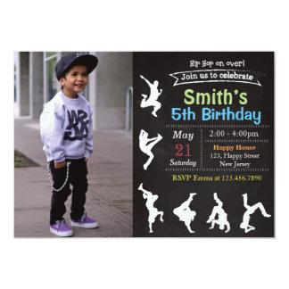 Invitación del cumpleaños de Hip Hop