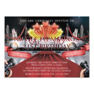 Invitación del cumpleaños de la alfombra roja