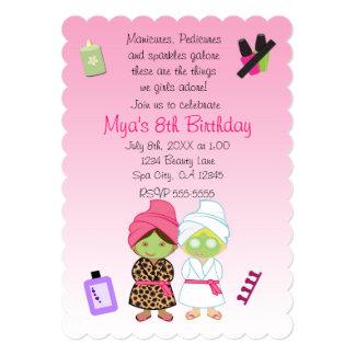 Invitación del cumpleaños de la belleza de 2 del
