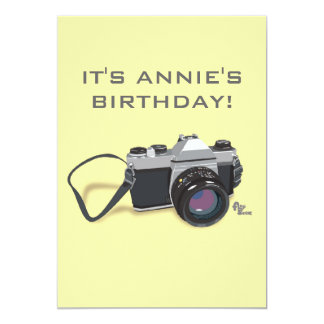 Invitación del cumpleaños de la cámara
