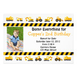 Invitación del cumpleaños de la construcción