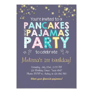 Invitación del cumpleaños de la crepe y de los