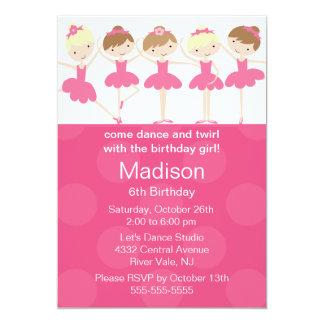 Invitación del cumpleaños de la danza de la