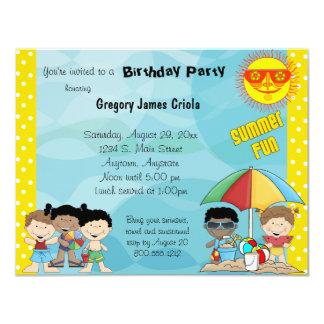 Invitación del cumpleaños de la diversión del