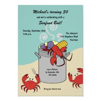 Invitación del cumpleaños de la ebullición de los invitación 12,7 x 17,8 cm