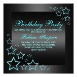 Invitación del cumpleaños de la estrella azul