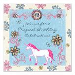 Invitación del cumpleaños de la fantasía del chica invitación 13,3 cm x 13,3cm