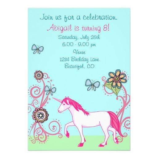 Invitación del cumpleaños de la fantasía del chica