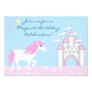Invitación del cumpleaños de la fantasía del chica invitación 12,7 x 17,8 cm