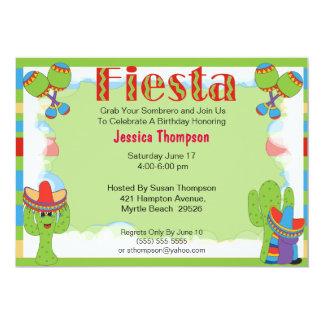 Invitación del cumpleaños de la fiesta invitación 12,7 x 17,8 cm