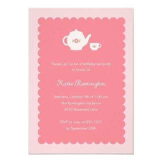Invitación del cumpleaños de la fiesta del té