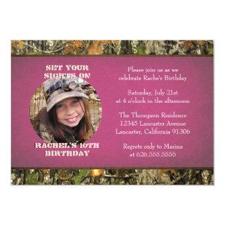 Invitación del cumpleaños de la foto de Camo de Invitación 12,7 X 17,8 Cm