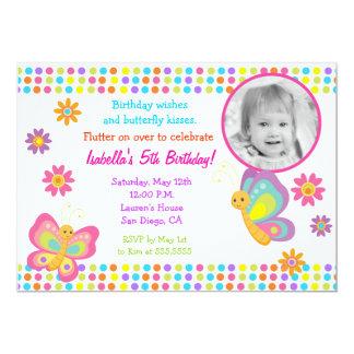 Invitación del cumpleaños de la foto de la