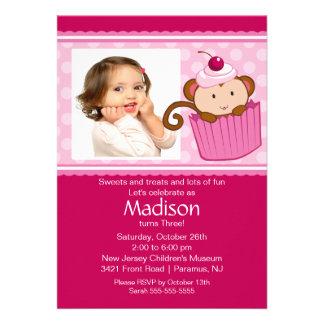Invitación del cumpleaños de la foto de la magdale