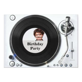 Invitación del cumpleaños de la foto de la placa