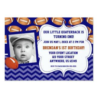 Invitación del cumpleaños de la foto del fútbol de
