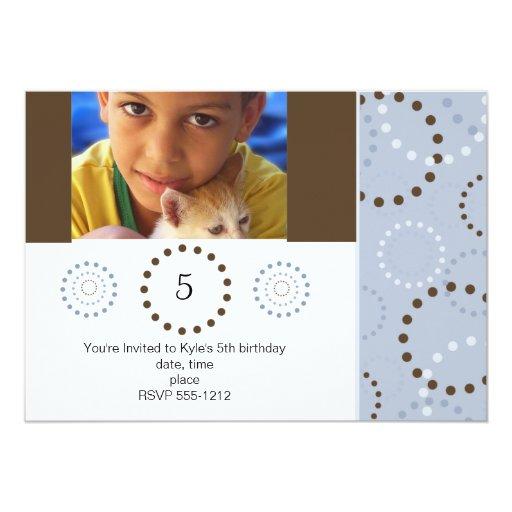 Invitación del cumpleaños de la foto (#INV 005)