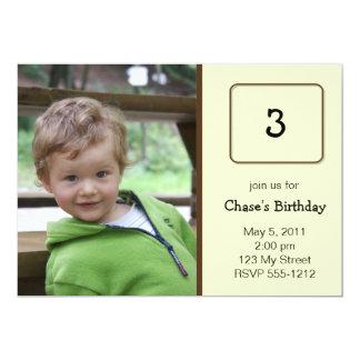 Invitación del cumpleaños de la foto (#INV 008)