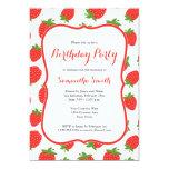 Invitación del cumpleaños de la fresa