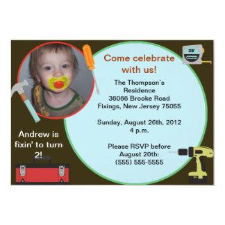 Invitación del cumpleaños de la herramienta