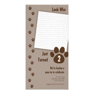 Invitación del cumpleaños de la impresión de la tarjeta con foto personalizada