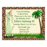Invitación del cumpleaños de la jirafa