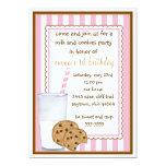 Invitación del cumpleaños de la leche y de las