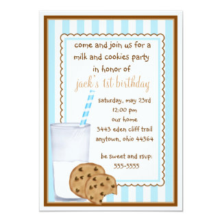 Invitación del cumpleaños de la leche y de las invitación 12,7 x 17,8 cm