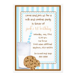 Invitación del cumpleaños de la leche y de las gal