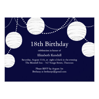Invitación del cumpleaños de la linterna del fiest