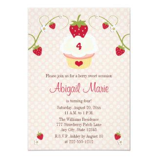 Invitación del cumpleaños de la magdalena de la invitación 12,7 x 17,8 cm