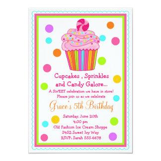 Invitación del cumpleaños de la magdalena del invitación 12,7 x 17,8 cm