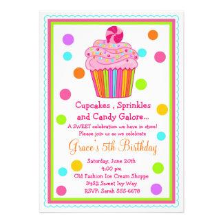 Invitación del cumpleaños de la magdalena del cara